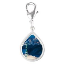 Full Moon over Vancouver Silver Teardrop Charm