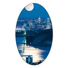 Full Moon over Vancouver Decal