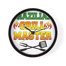 Brazilian Grill Master Apron Wall Clock