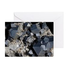 Galenite crystals Greeting Card