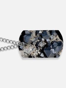 Galenite crystals Dog Tags