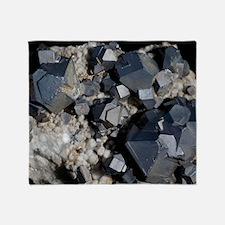Galenite crystals Throw Blanket