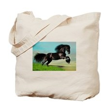 Black Horse Rearing Tote Bag