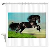 Black stallion Shower Curtains