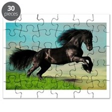 Black Horse Rearing Puzzle