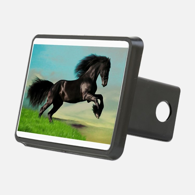 Black Horse Rearing Hitch Cover