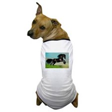Black Horse Rearing Dog T-Shirt