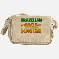 Brazilian Grill Master Dark Apron Messenger Bag