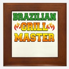Brazilian Grill Master Dark Apron Framed Tile