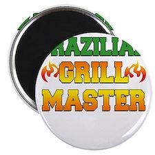 Brazilian Grill Master Dark Apron Magnet