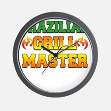 Brazilian Grill Master Dark Apron Wall Clock