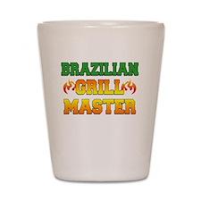Brazilian Grill Master Dark Apron Shot Glass