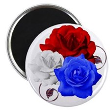 Patriotic Flowers Magnet