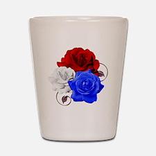 Patriotic Flowers Shot Glass