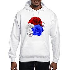 Patriotic Flowers Hoodie