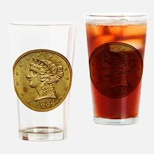 1854-O Half Eagle PCGS MS63 Drinking Glass