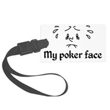 Poker Face Nervous Luggage Tag