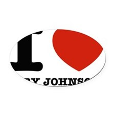 I love Gary Johnson Oval Car Magnet