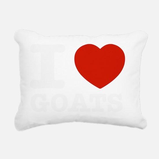 I love Goats Rectangular Canvas Pillow