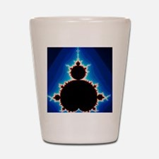 Fractal geometry showing Mandelbrot Set Shot Glass