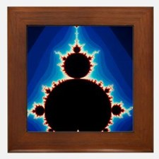 Fractal geometry showing Mandelbrot Se Framed Tile