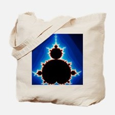 Fractal geometry showing Mandelbrot Set Tote Bag