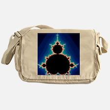 Fractal geometry showing Mandelbrot  Messenger Bag