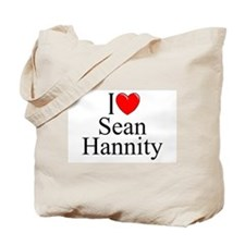"""I Love (Heart) Sean Hannity"" Tote Bag"