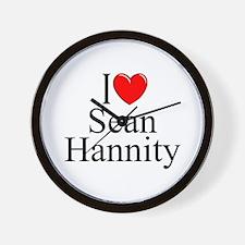 """""""I Love (Heart) Sean Hannity"""" Wall Clock"""