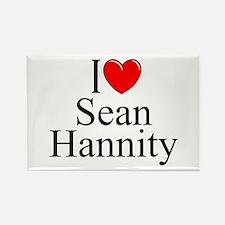 """I Love (Heart) Sean Hannity"" Rectangle Magnet"
