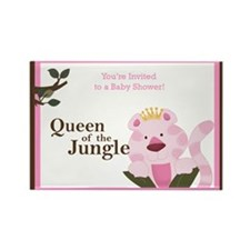 Queen of the Jungle Baby Shower Rectangle Magnet