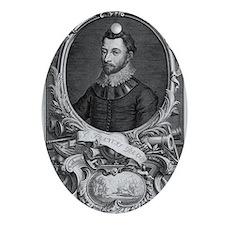 Francis Drake, English explorer Oval Ornament