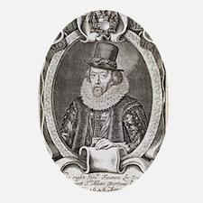 Francis Bacon, English philosopher Oval Ornament