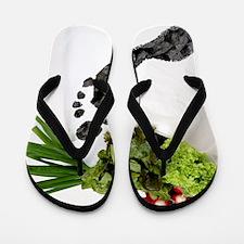 Food miles, conceptual image Flip Flops