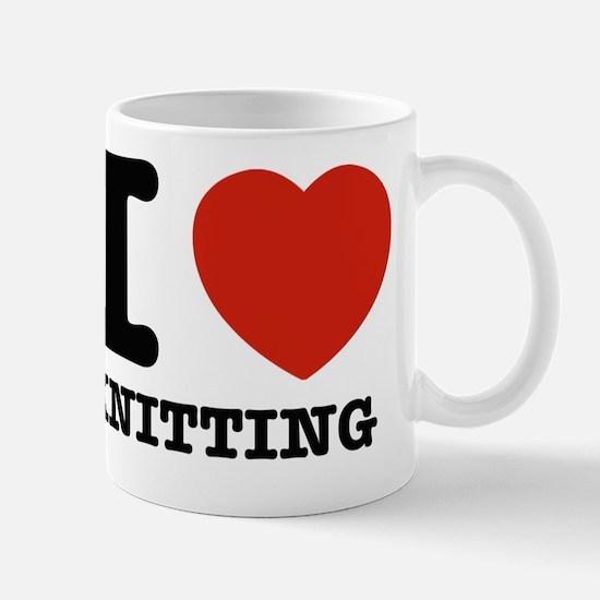I love knitting designs Mug
