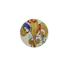Cajun Fleur de lis Mini Button