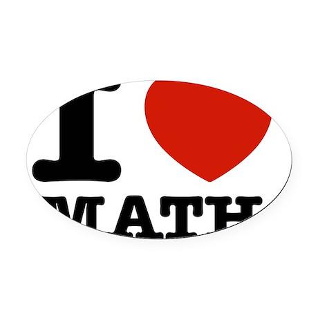 I love Math Oval Car Magnet