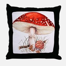 Fly agaric mushrooms Throw Pillow
