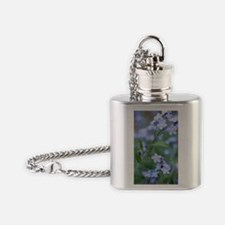 Forget-me-nots (Myosotis sylvatica) Flask Necklace