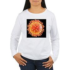 Flu virus particle, ar T-Shirt
