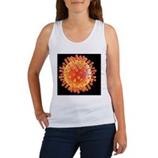 Flu virus particle, artwork Women's Tank Top