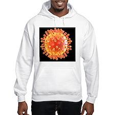 Flu virus particle, artwork Hoodie