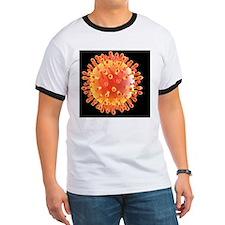 Flu virus particle, artwork T