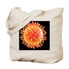 Flu virus particle, artwork Tote Bag