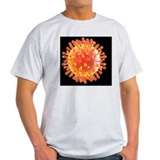 Flu virus particle, artwork T-Shirt