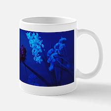 Flowers under blue light Mug