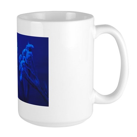 Flowers under blue light Large Mug