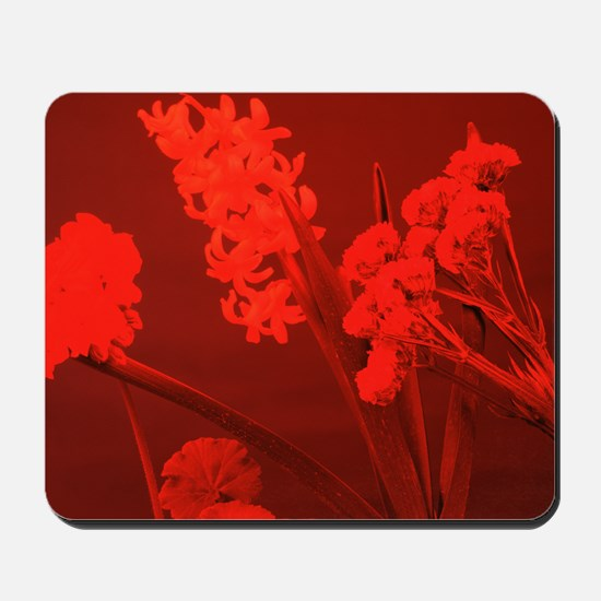 Flowers under red light Mousepad