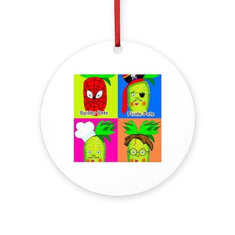Pineapple Pete Round Ornament