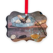 Food and glass dishes, Roman fres Ornament